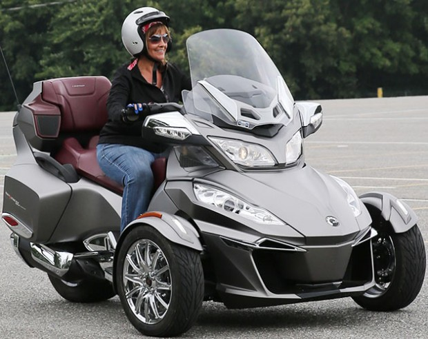 In all likelihood, Amy's new bike will be a Can-Am like this one.