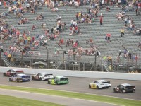 Nearly empty grandstands at Indy for the Brickyard 400 Sunday. (Charlie Nye/Indianapolis Star)
