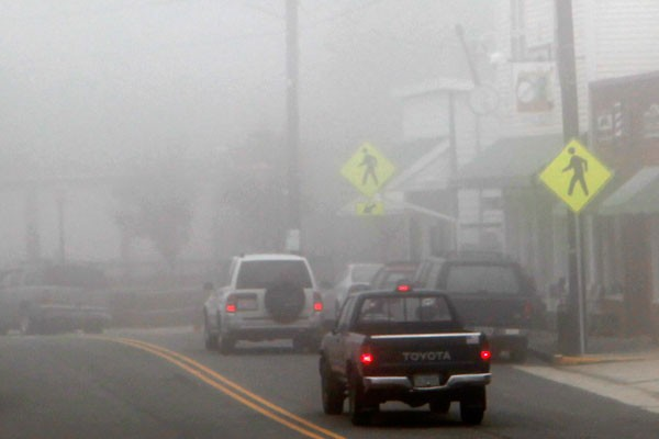 Fog in downtown Floyd