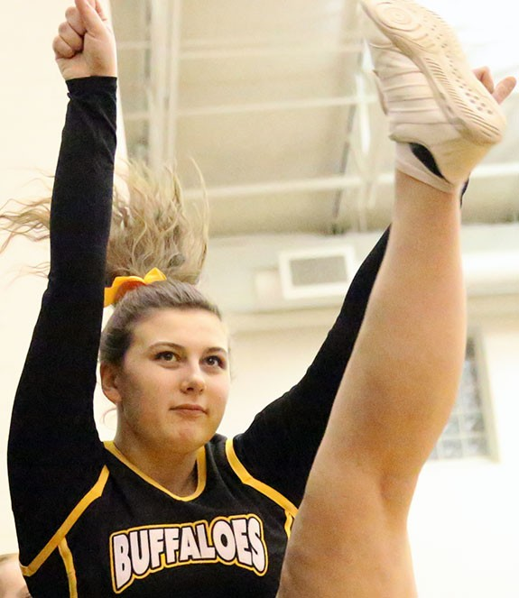 Lots for Buffaloes cheerleaders to celebrate