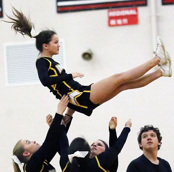 Floyd County Cheerleaders have a lot to celebrate in rout.