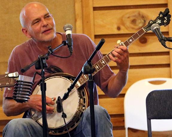 Sammy Shelor: Playing his music...