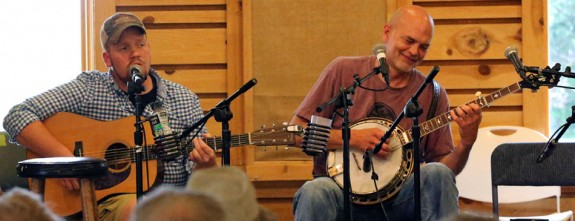 Shelor and Jesse Smathers on stage at The Floyd Country Store