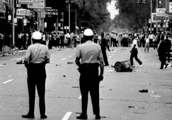 Protests after the death of Dr. Martin Luther King in 1968.