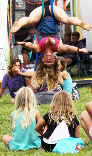 Yoga on a rope?