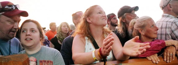 Part of the appreciative crowd at FloydFest.