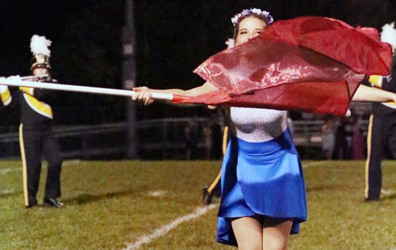Putting on the show for the Floyd County High School Marching Band. (Photos by Doug Thompson)