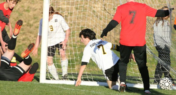 A strong goal by the Buffaloes in a comeback bid that fell short.