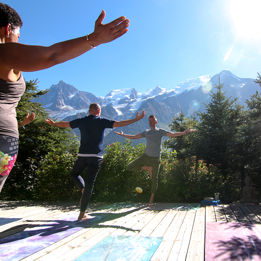 tree, pose, Yoga, Retreat, Chamonix, Mont Blanc, France, Europe, Luxury, Chalet, spa, hot tub, hiking, meditation, alps, wellness, health, healthy, food, mountain, travel, mountains, retreats, holistic, holiday, hike, walking, hikes, wellbeing, mindfulness, retreats, mont, blanc