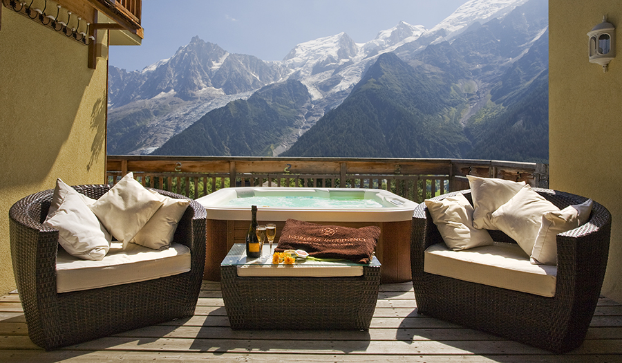Chamonix Mont Blanc Luxury Yoga Hiking Retreat French Alps Spring Autumn Mountains Spa Hot Tub Pool Chalet Relax Alps