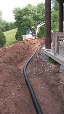 underground rain drain
