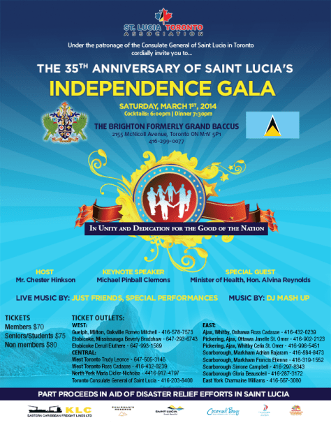 St. Lucia 35th Anniversary Independence Gala, The Brighton, Toronto