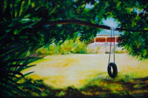 "Perception, 24""x36"", acrylic on canvas, ©2014 Donna Grandin. $1400."