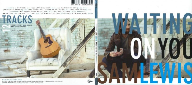 Sam Lewis - 'Waiting On You' (front & back cover)
