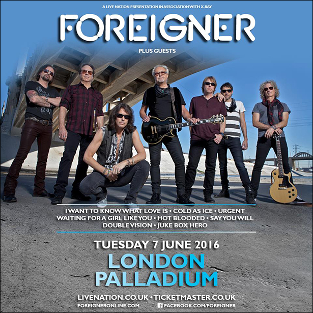 FOREIGNER - London PALLADIUM June 2016