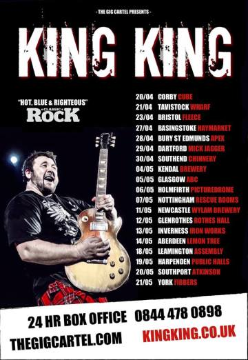 King King 2017 Tour with Special Guest across the UK