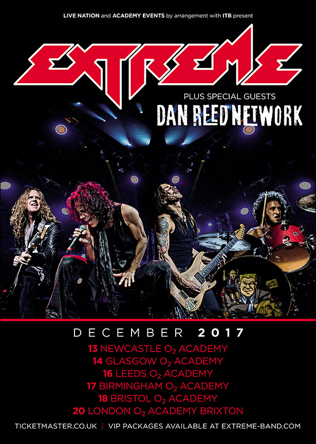 Dan Reed Network New Album Video plus Supporting Extreme