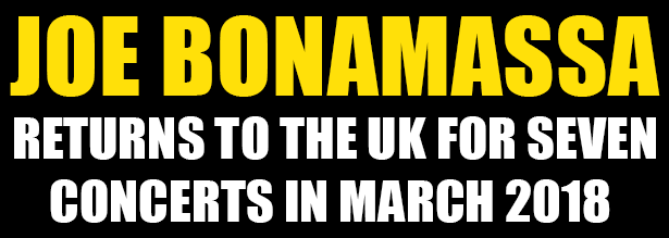 Joe Bonamassa Back On UK Tour March 2018
