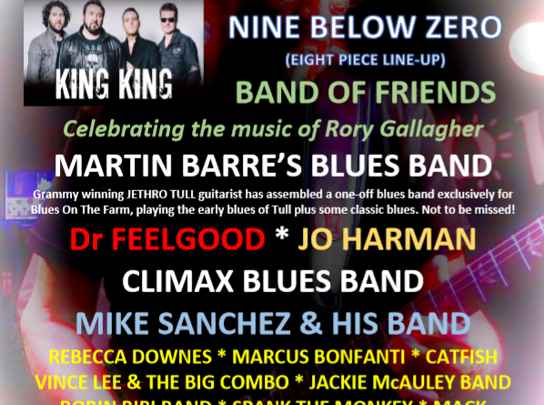 Countdown to new Blues Festival for Kent Blues on The Farm