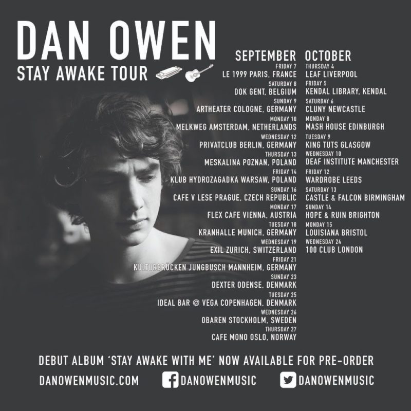 Stay Awake With Me Sings Dan Owen preorder debut album plus Headline Tour