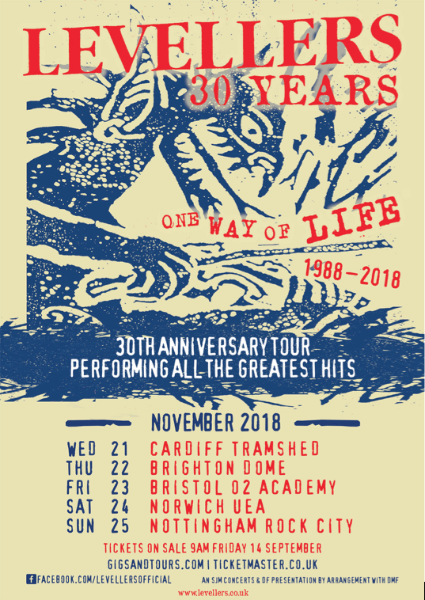 Levellers Announce One Way Of Life Tour