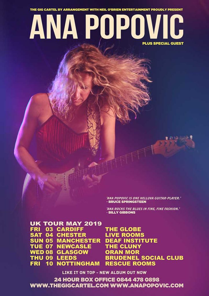 Ana Popovic Brings Here Guitar Out To Play May 2019