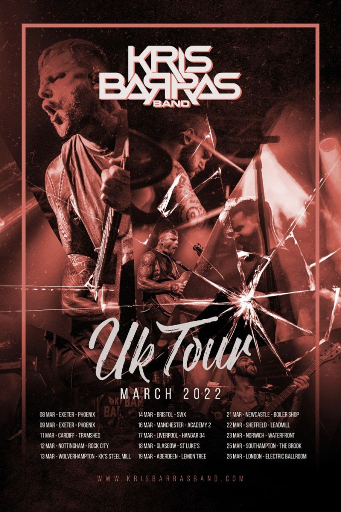 Kris Barras Band Back On the Road Again March 2022
