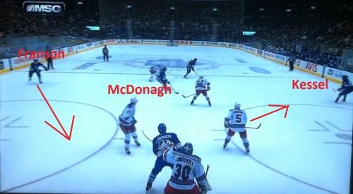 Tough spot for McDonagh.