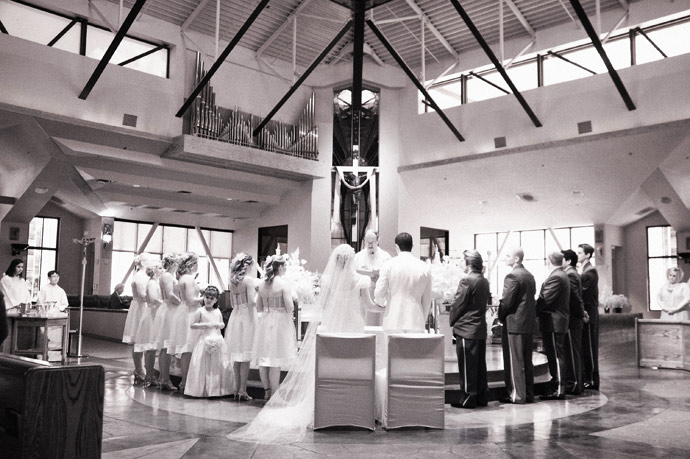 Infrared Photography during Catholic Wedding Ceremony in Fullerton, California