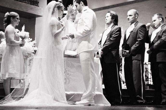 Infrared Wedding Photography at Catholic Wedding Ceremony in Orange County, California