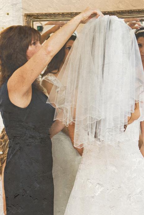 Bride getting ready at La Venta Inn Wedding