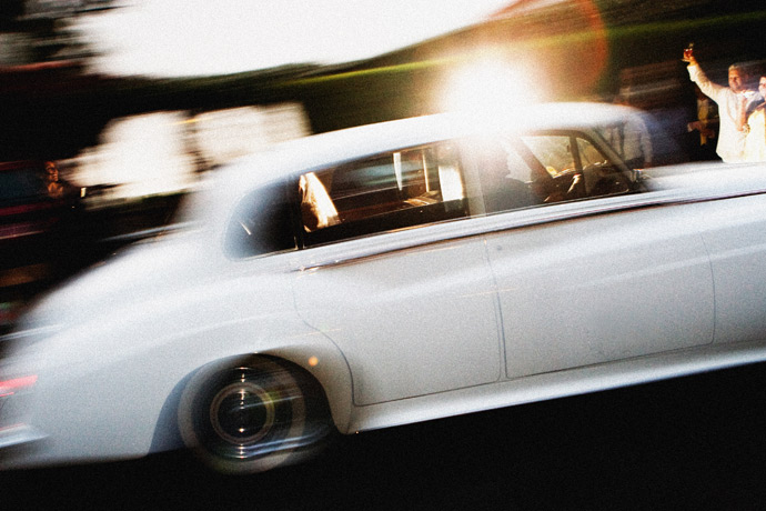 limo exit at La Venta Inn Wedding