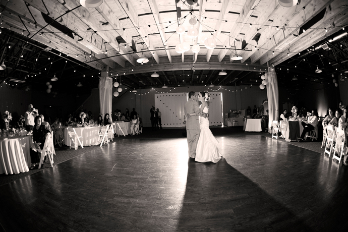 First Dance at Strawberry Farms Wedding Reception