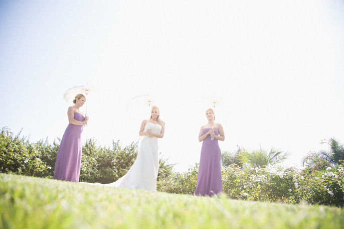 Bride and Girls at Laguna Cliffs Marriott Wedding