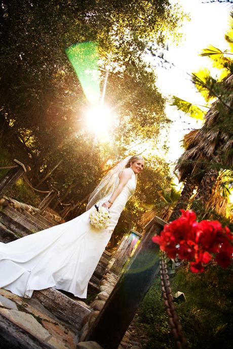 Bride at Rancho Las Lomas Wedding