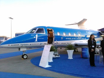 Lisa's product support aircraft... Also a Gulfstream (because, why not?)