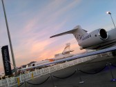 Lovely sunset with a G500 in the foreground.