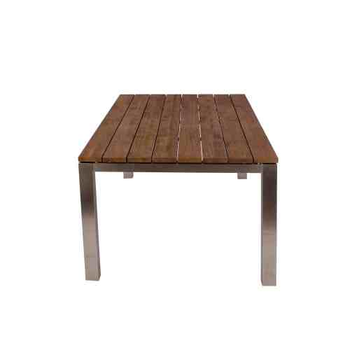 Reclaimed Teak Dining Table with Stainless Steel frame