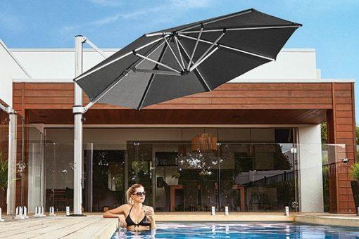Frankford Eclipse Outdoor Umbrella, Residential - Black