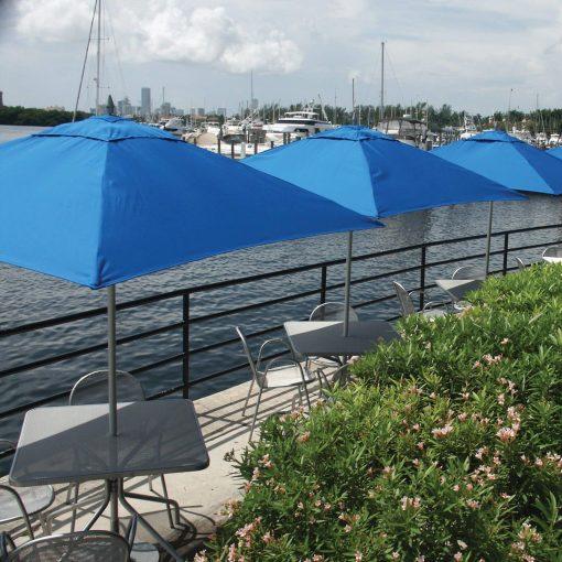 Tuuci Bay Master Fiberglass Umbrellas, Commercial Marina - Blue