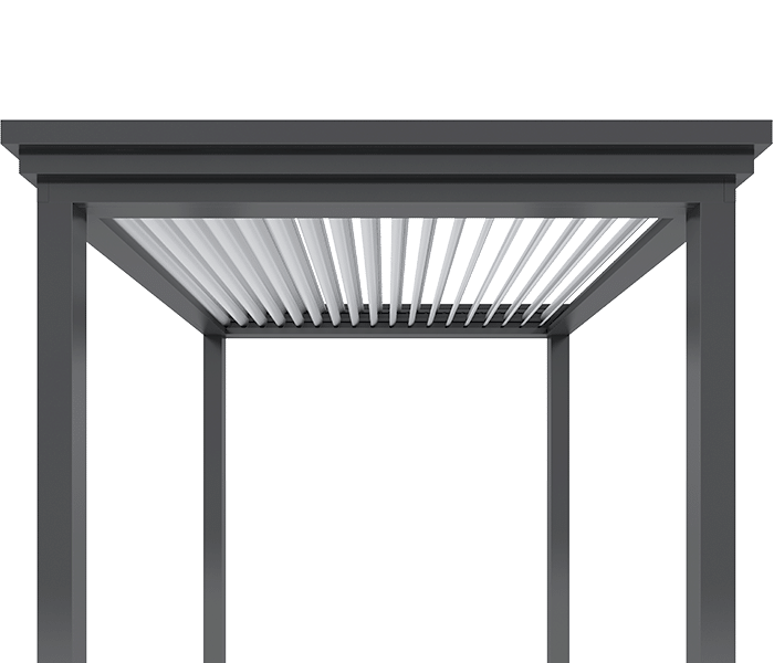 Louvered Pergola Design, Commercial Grade