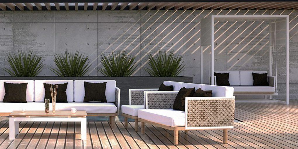 Corda Sofa, Outdoor Seating Set - White