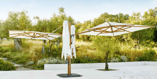 Jardinico JCP.501 Quad Sidepost Two Umbrella - White