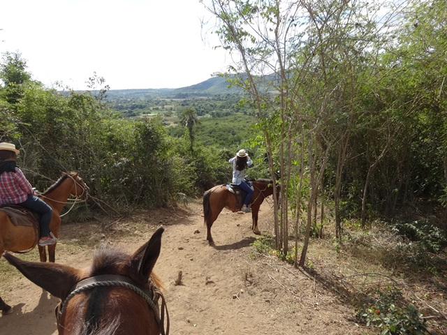 horseback riding in Trinidad, Cuba, Blue Sky and Wine