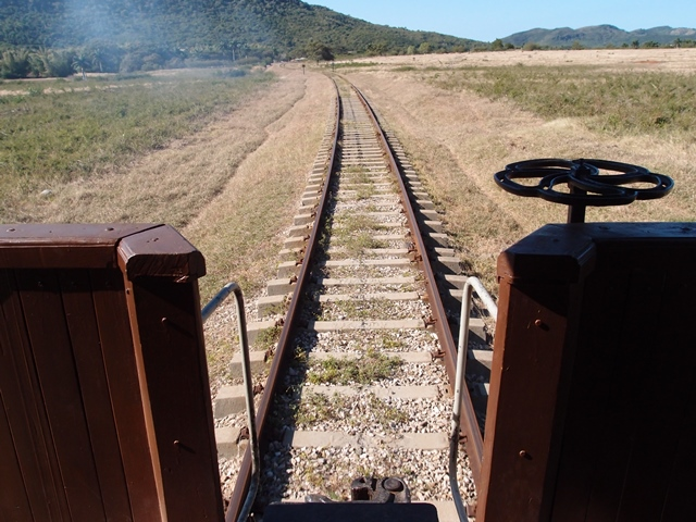 Train journey to Valle de los Ingenios, Trinidad, Cuba, Blue Sky and Wine