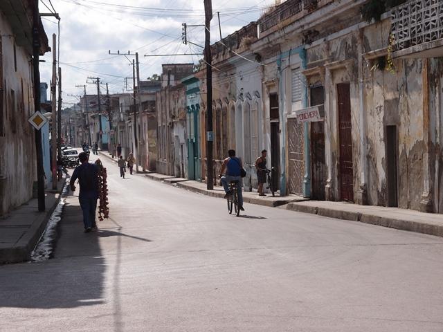 Santa Clara street view, Cuba, Blue Sky and Wine