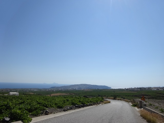 Santorini Greece, Blue Sky and Wine
