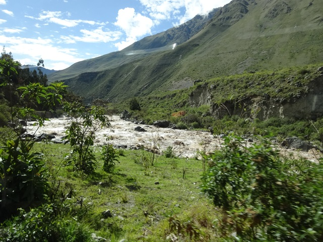 Urubamba River, Machu Picchu by train, Peru, Blue Sky and Wine