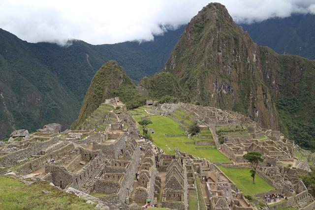 Machu Picchu, Peru, Blue Sky and Wine