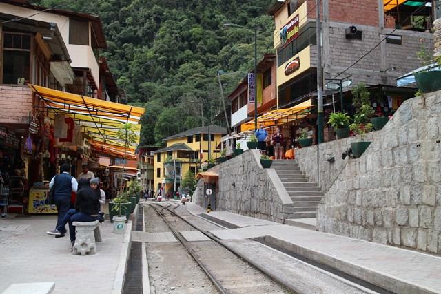 Agua Caliente, Machu Picchu, Peru, Blue Sky and Wine